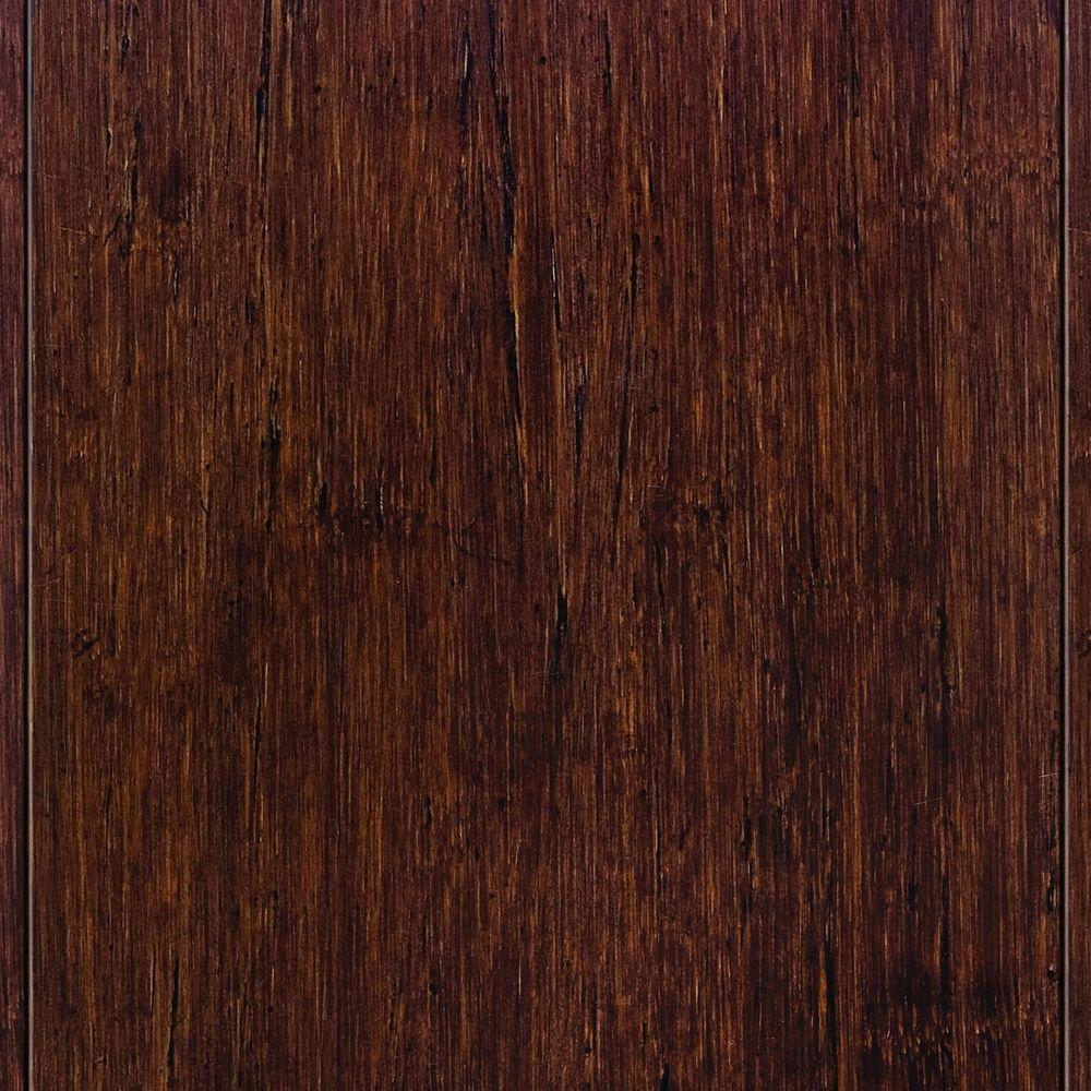 Home Legend Strand Woven Sapelli 3 8 In Thick X 4 3 4 In Wide X 36 In Length Click Lock Bamboo Flooring 19 Sq Ft Case Hl204h The Home Depot Bamboo Flooring Flooring Types Of Wood Flooring