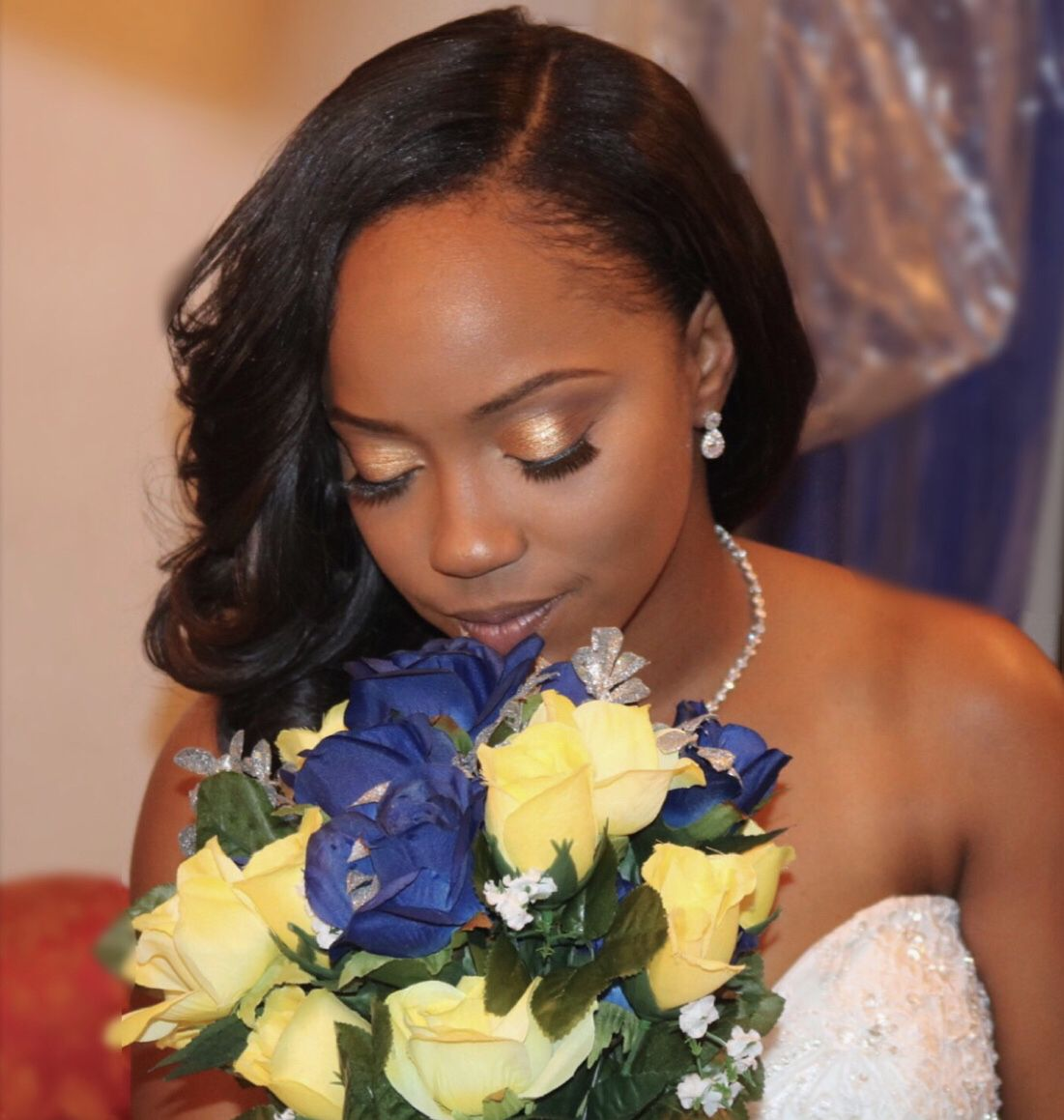#bridalmakeup #bride #blackbride #blackgirlmakeup # ...