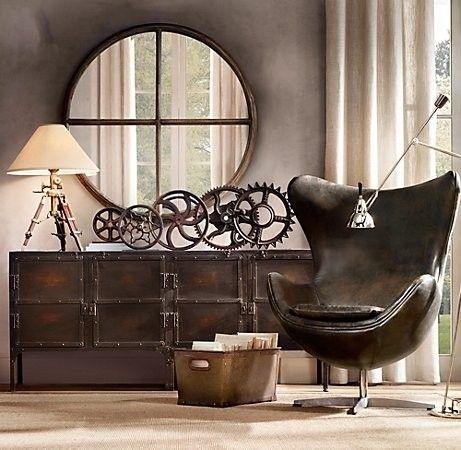 objet deco vintage industriel. Black Bedroom Furniture Sets. Home Design Ideas