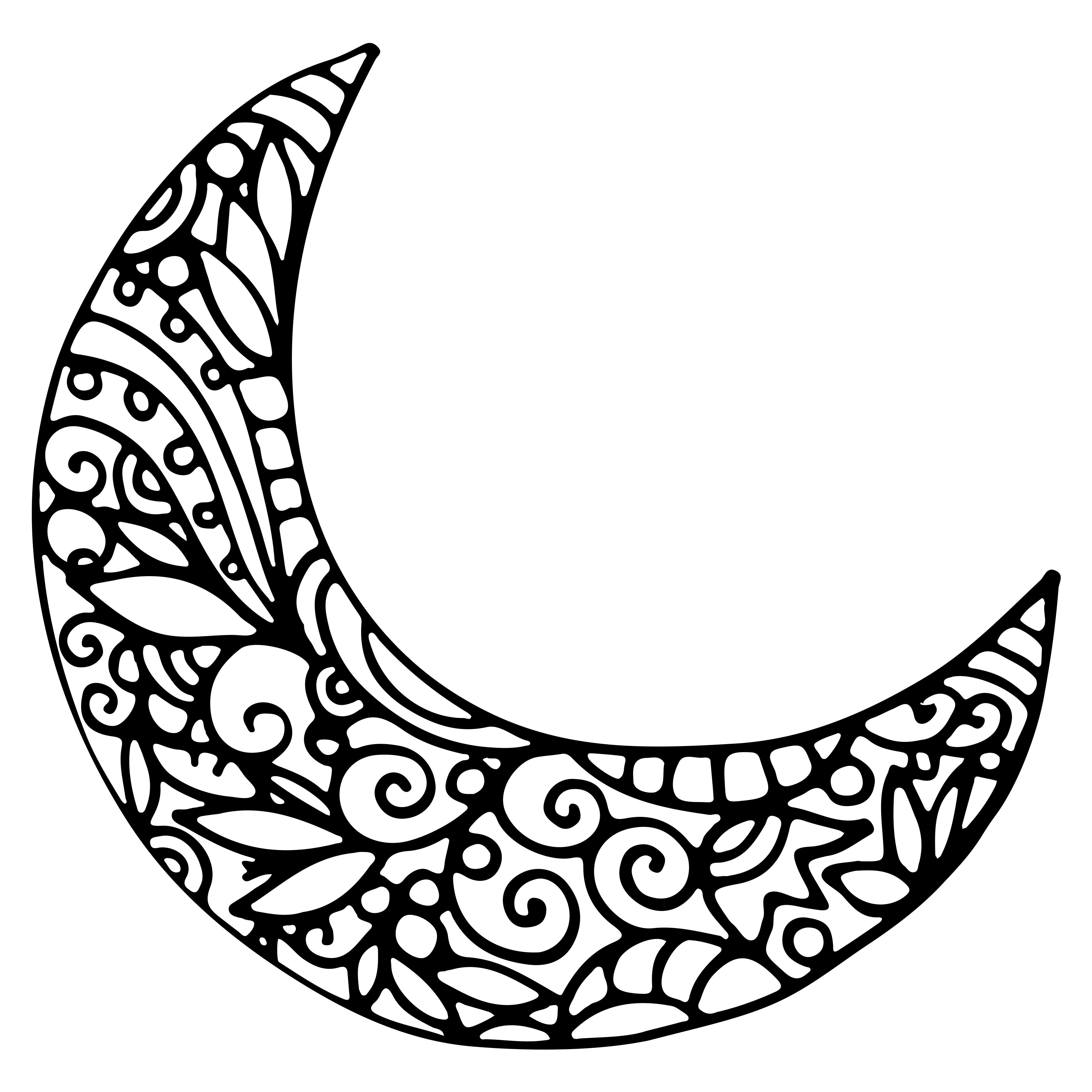 crescent moon coloring page | Wood crafts | Pinterest | Mandala ...