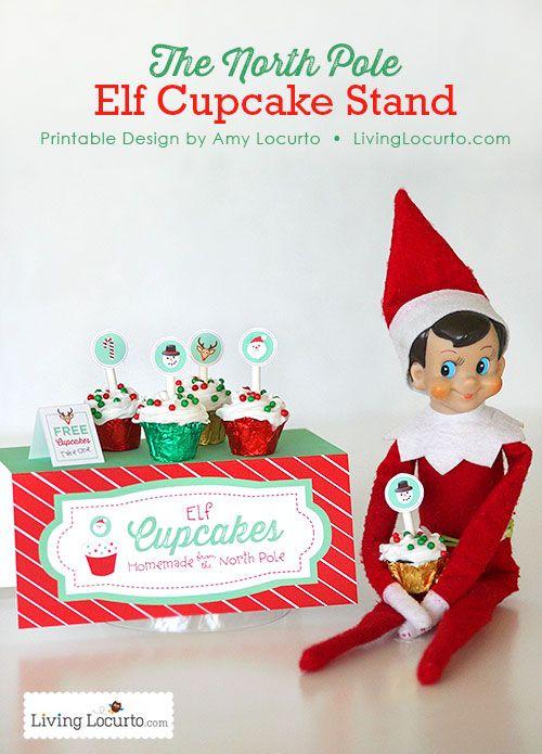 Elf Cupcake Stand Printables Elf On The Shelf Christmas Elf Elf