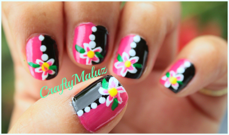 Tutoriales:♥ Decoración de Uñas Fáciles y rápidos con flores ...