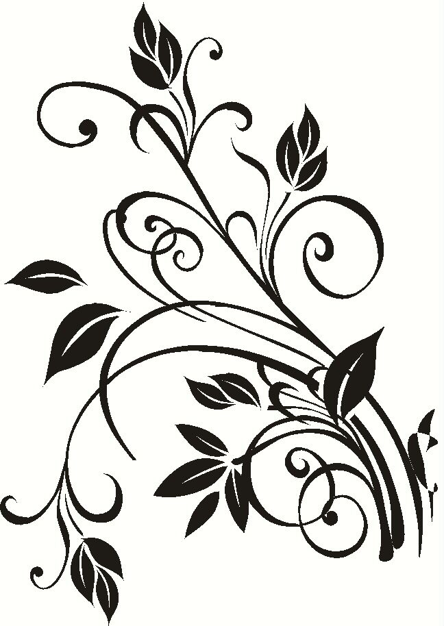 Small Floral2 Vine Wall Art Decal 9x13 Decal Wall Art Art Sticker Wall Art