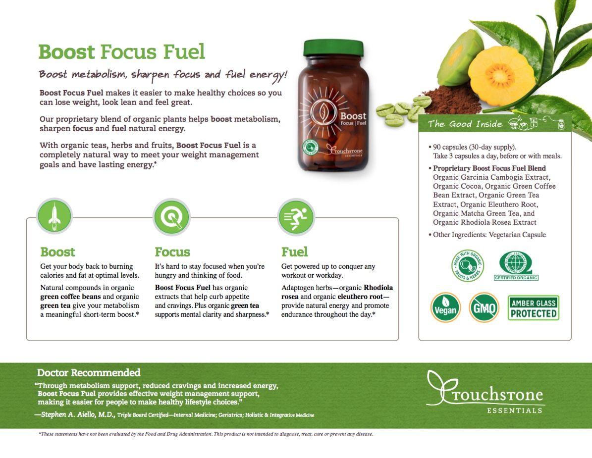 Boost focus fuel an organic herbal supplement for brain