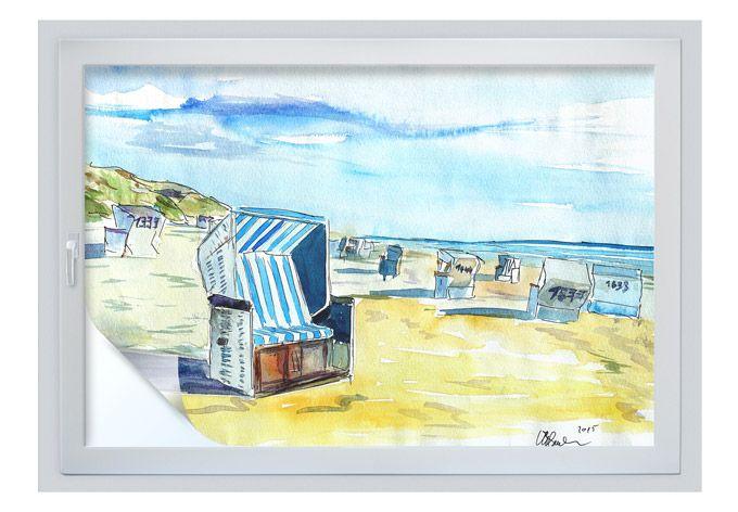 Ein Hingucker für Ihre Fenster!   Strandmalerei, Idee ...