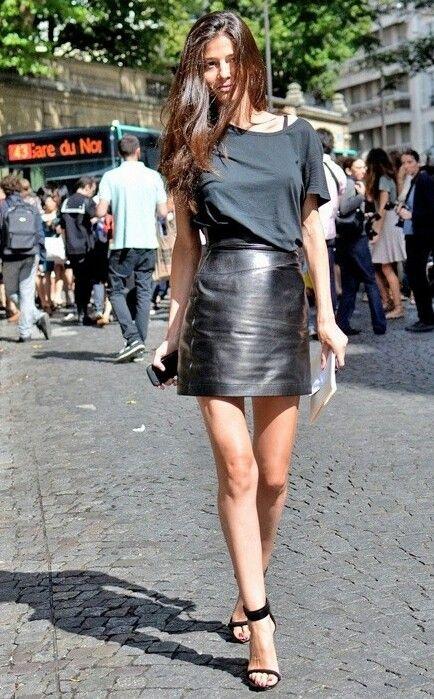 All black fashion in summer