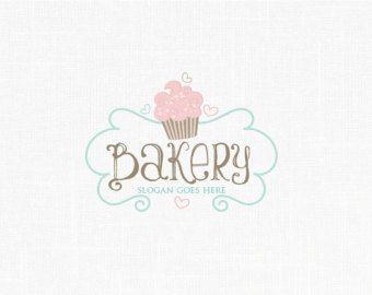 Bakery Logo Design Label Cupcake By MaggieArtStudio