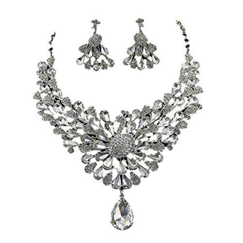 Peacock Designs Crystal Rhinestone Necklace Set / AZBLRH048-SCL Arras Creations http://www.amazon.com/dp/B00N263CMC/ref=cm_sw_r_pi_dp_egqcub1YVEH4H