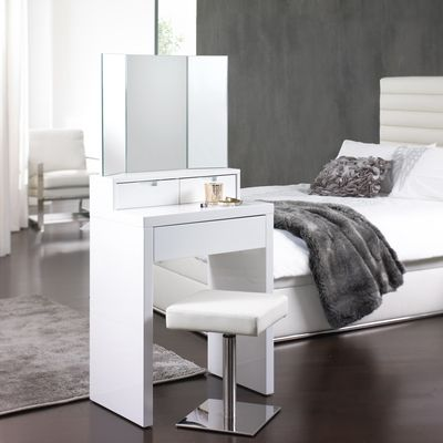 This small dressing table has a small foot print allowing even the