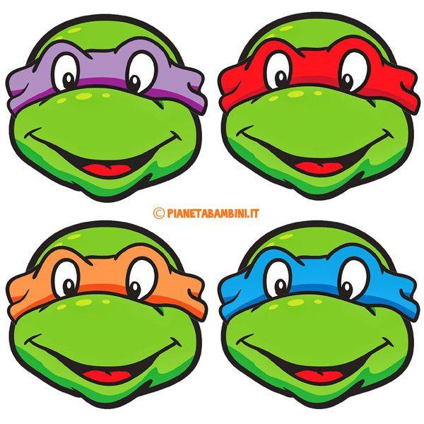 Maschere delle tartarughe ninja da stampare ritagliare e for Maschere stampabili