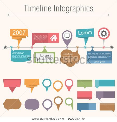 Horizontal Timeline Stock Photos, Images, \ Pictures - Sample Timeline