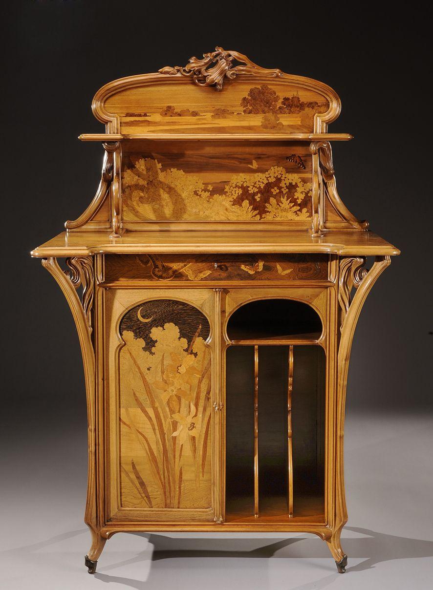 meuble musique mile gall 1900 art nouveau. Black Bedroom Furniture Sets. Home Design Ideas