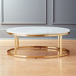 Smart Brass C Table with White Marble Top