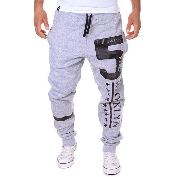 ac152c525c6 The Number 5 and the Letter Printing is cool and attractive. 2.Elastic waist  is comfortable this pant is suitable for doing sports. Material 35%  Cotton+65% ...