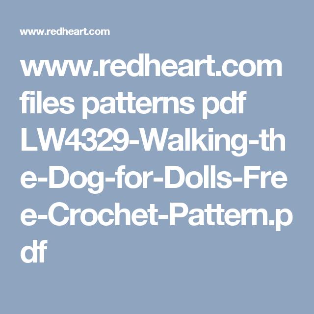 www.redheart.com files patterns pdf LW4329-Walking-the-Dog-for-Dolls ...