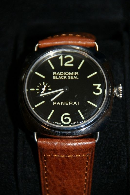 Panerai Radiomir Black Stainless Steal PAM 00183 Mens Watch Leather 45mm