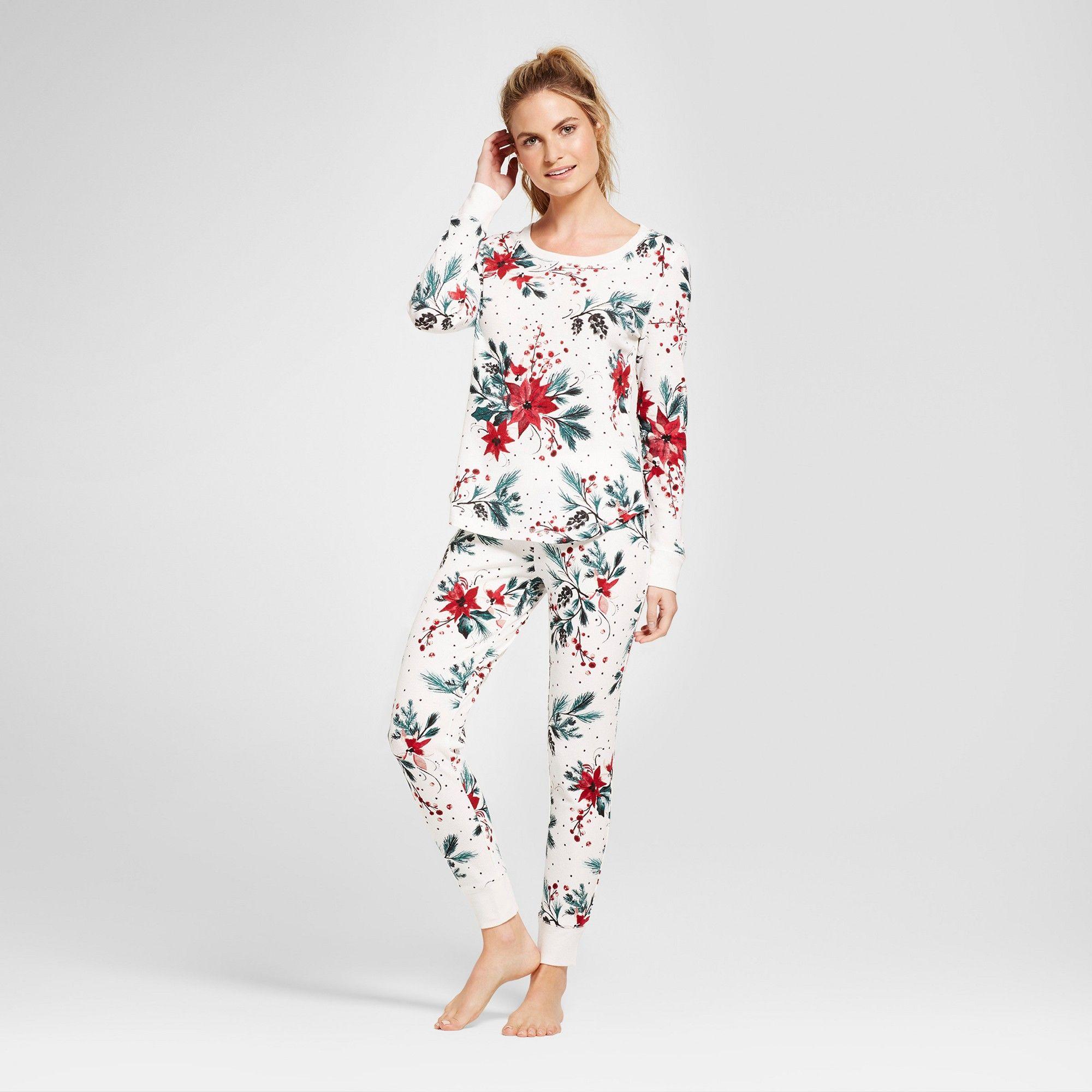 Women's Pajama Set Almond Cream S, White Pajama set