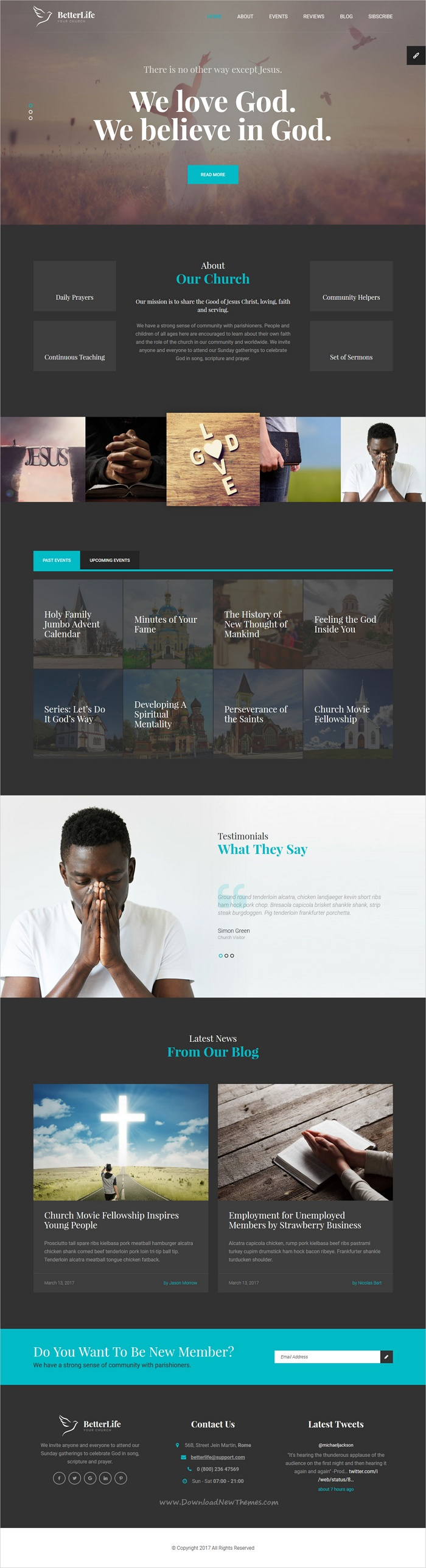 BetterLife - Church & Religious HTML template with Visual Page ...