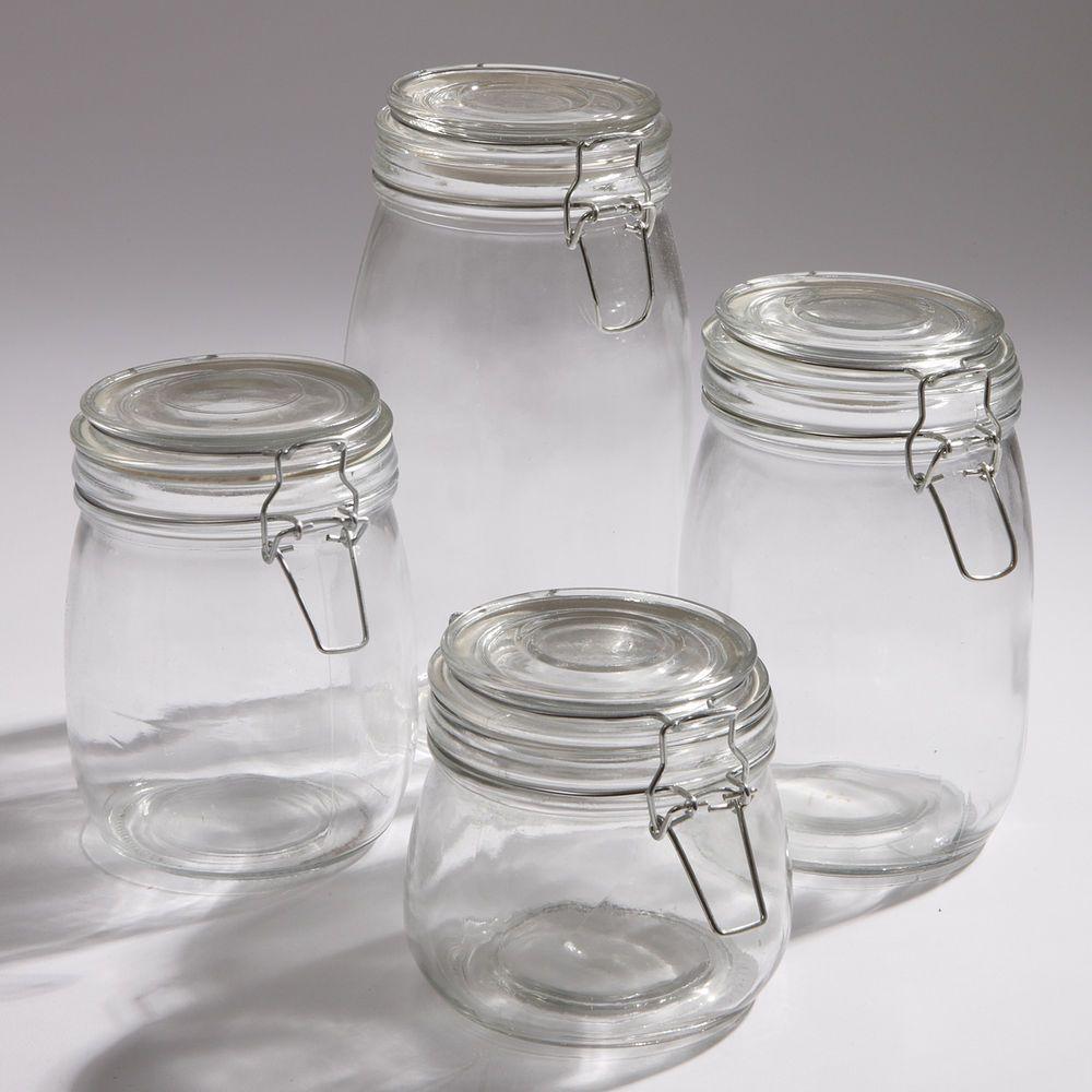 Glass Kitchen Storage Jars Lever Arm Fastening Rubber Seal Jam Chutney  Preserve | Wedding Decorations | Pinterest | Kitchen Storage Jars, Storage  Jars And ...