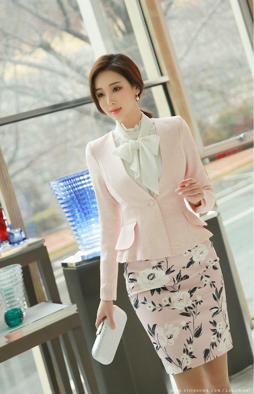 ce9bcd06bd Romantic Floral Print Pencil Skirt