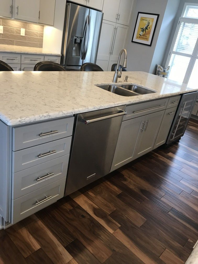 Remodel Kitchen Perimeter Cabinets Are Homecrest Sedona Maple French Vanilla Island And Window Seat Are Willow Paint Cou Kitchen Sale Kitchen Remodel Kitchen