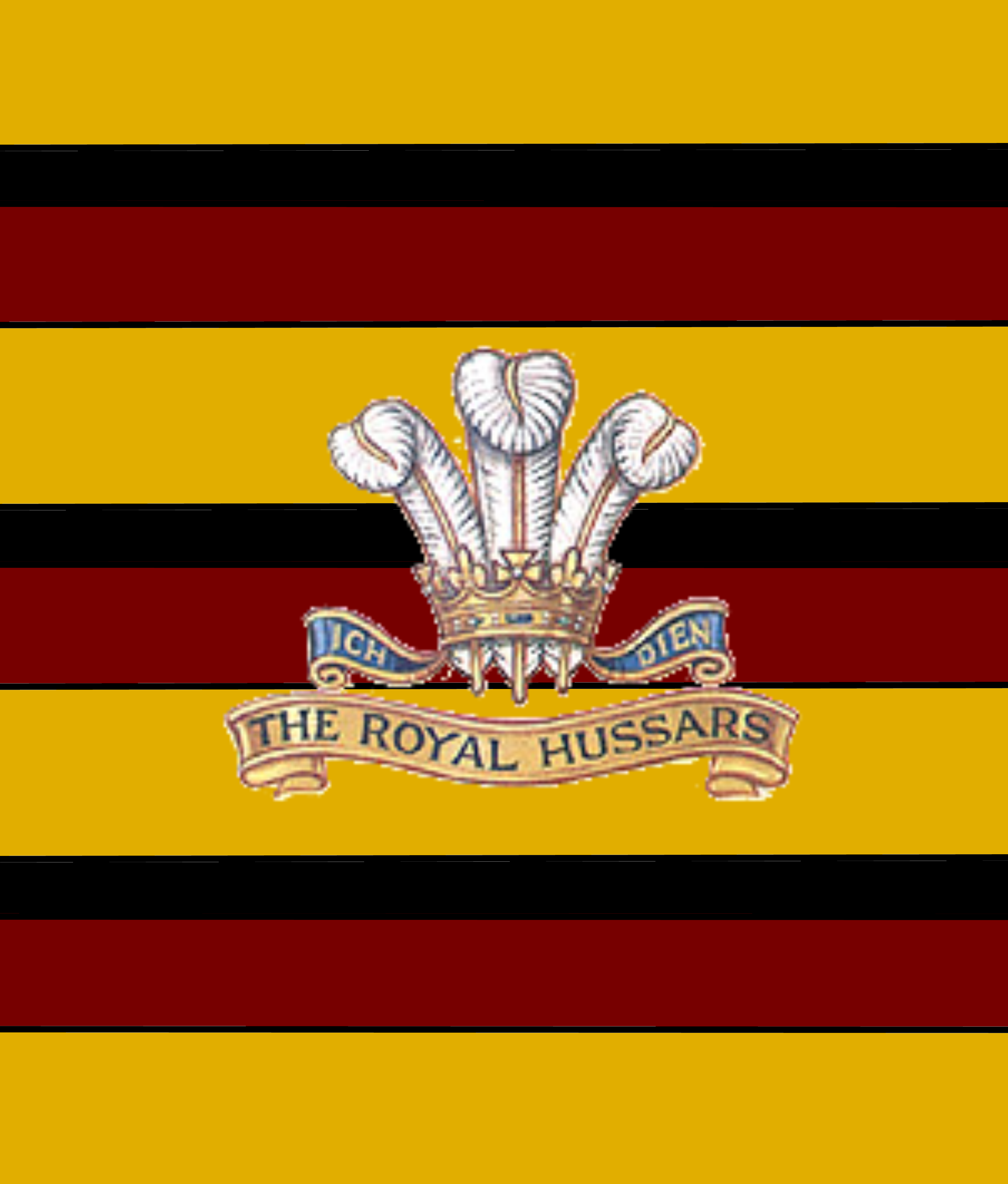 BRITISH ARMY THE KING'S ROYAL HUSSARS STICKER