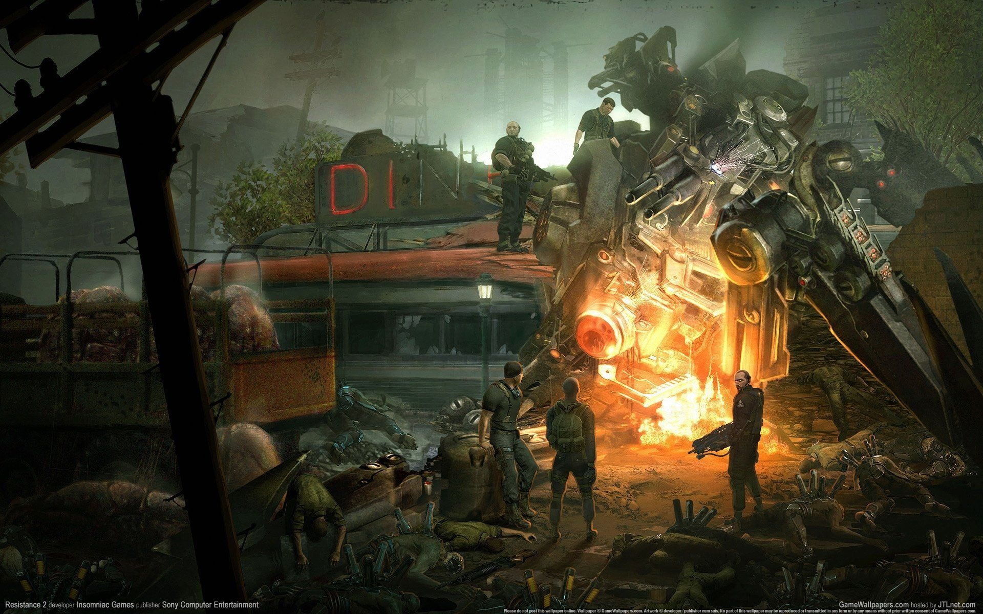 Video Game Resistance Fall Of Man Resistance Wallpaper The Falling Man Resistance Fall Of Man Game Art