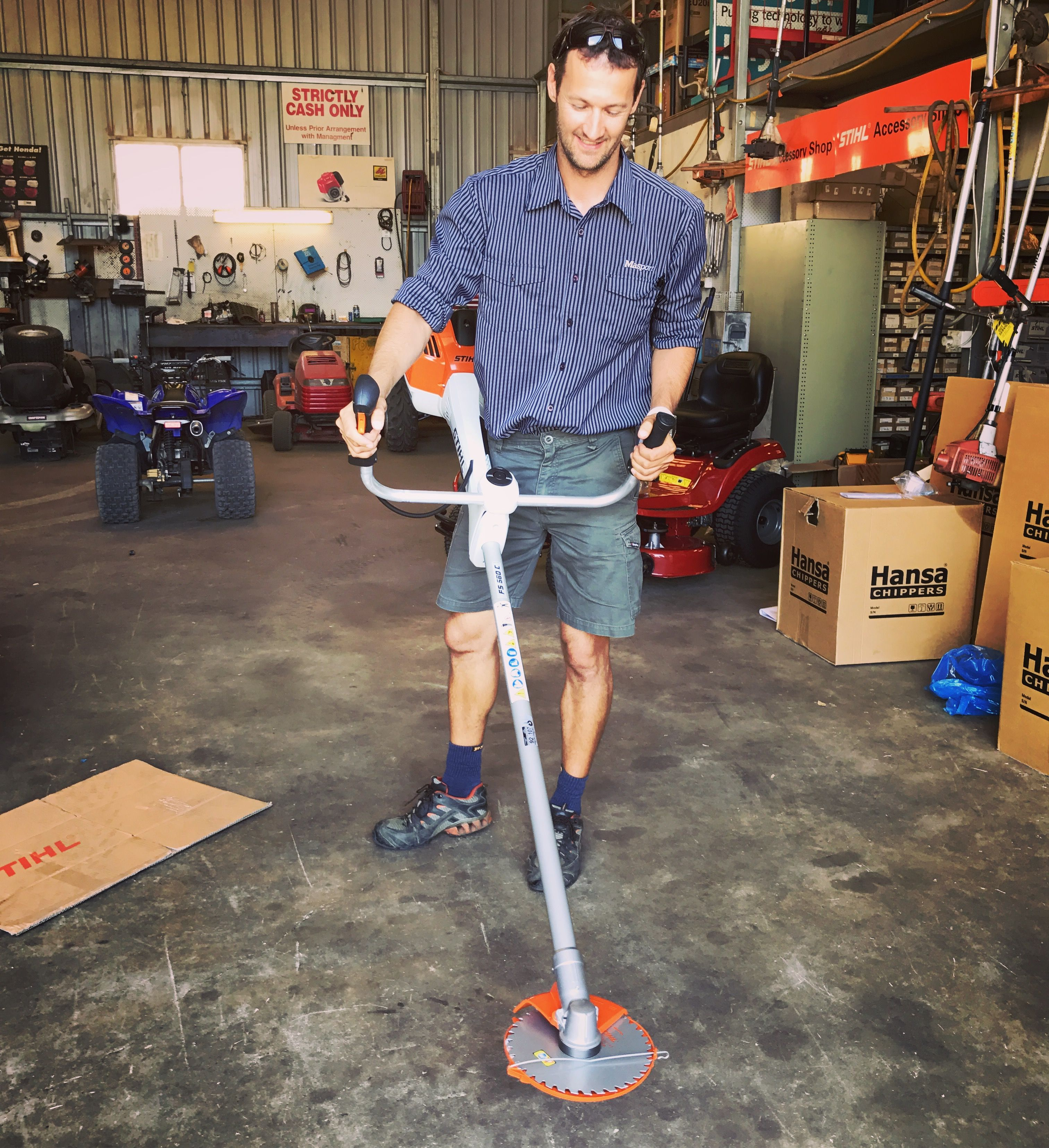 Good, better, Stihl FS 560 C-EM Clearing Saw for professionals