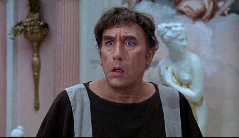 "Frankie Howerd as Lurcio in ""Up Pompeii"""