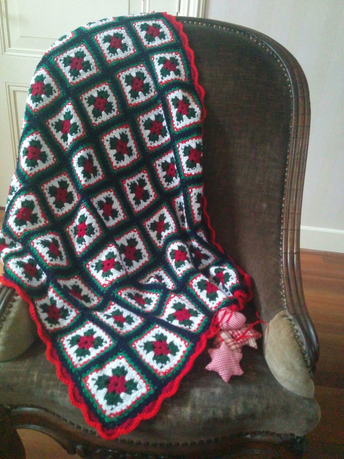 Kerst Deken Haken Dit Is Een Klassieke Deken Gemaakt Van Grannies