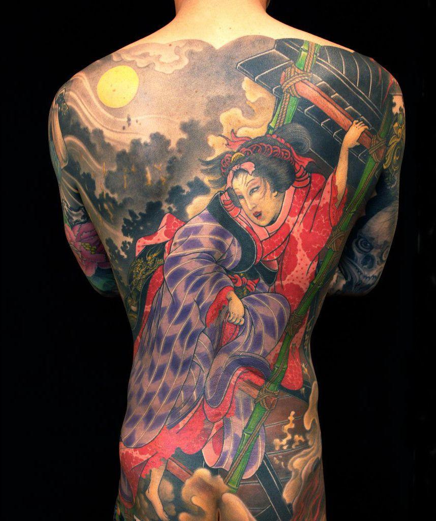 Native Composition japanese tattoo Full Back Tatuajes