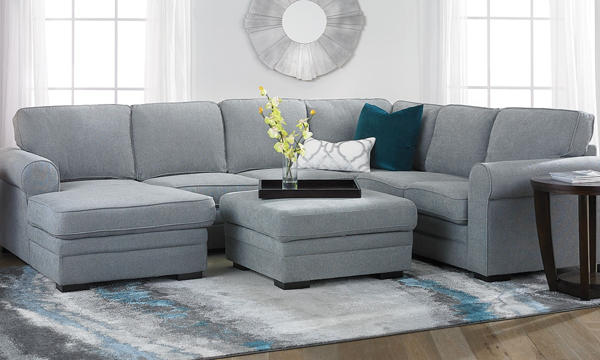 Remarkable Abigale Roll Arm Sleeper Sectional With Storage Chaise In Uwap Interior Chair Design Uwaporg