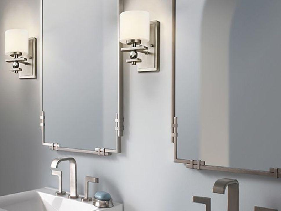 Neues Design In Geburstetem Nickel Spiegel Nickel Geburstet Spiegel Ist Nicht N Bathroom Mirror Design Brushed Nickel Bathroom Brushed Nickel Bathroom Mirror