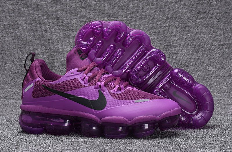 e7d1eb833ab38 Zero Defect NIKE AIR VAPORMAX FLYKNIT Black Purple women s Running Shoes  709384 010
