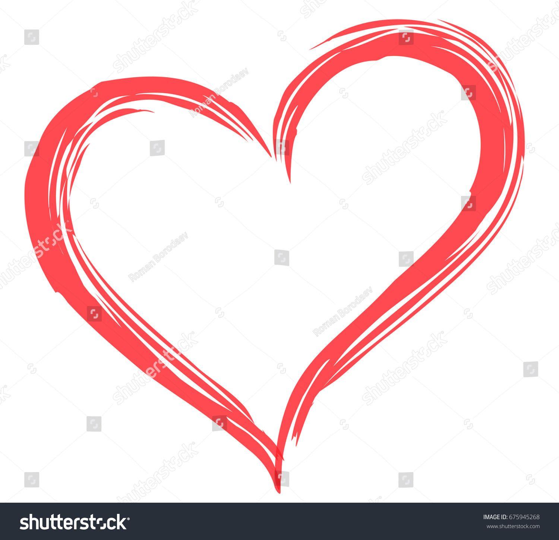 Heart shape vector. Love illustration. Hand drawn design