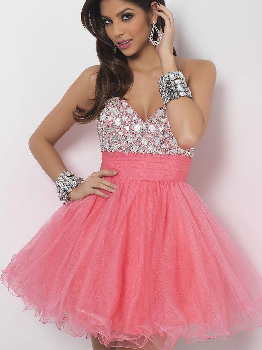 Vestidos de 15 anos cortos color rosa (1) | vestidos color coral ...