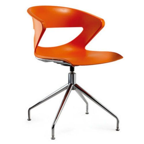 Foshan New PP Office Furniture Chair Leisure Reception With Metal Leg