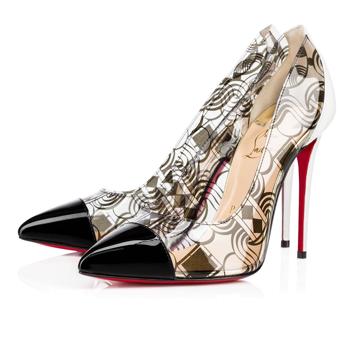 ac2bcb5f54f shop christian louboutin debout patent pvc black pvc women shoes louboutin.  5695d f7f24