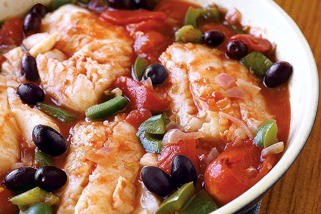Photo of A blend of tomatoes, onions and black olives gives this Supe…