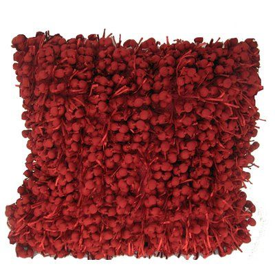 Bungalow Rose Heerlen Throw Pillow Color: Red