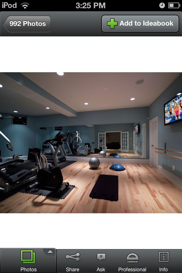 Workout Room Like Mirror And Flat Screen Not Sure About
