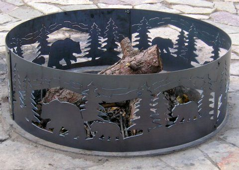 Fire Rings, Campfire Rings, Metal Light Sconces - Campfire Fire Ring - Bears n' Cubs