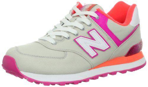 New Balance WL574 APG B Sneaker Damen (hellgrau / pink ...