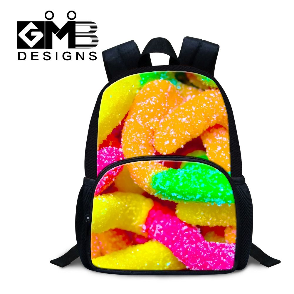 74f68df0fe0 Dispalang candy printing school back pack for little girls boys 12 inch  mini felt backpacks new