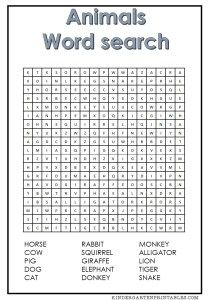 Animal Word Search | Word Search | Pinterest
