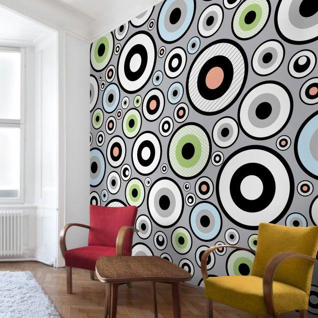 #Vliestapete   Cheery   #Fototapete Quadrat #Muster #gemustert #Wanddeko  #Farbenfroh #Formen #Wandgestaltung #mal #anders