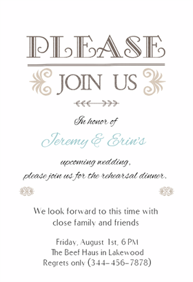 Pinterest  Dinner Invitation Template