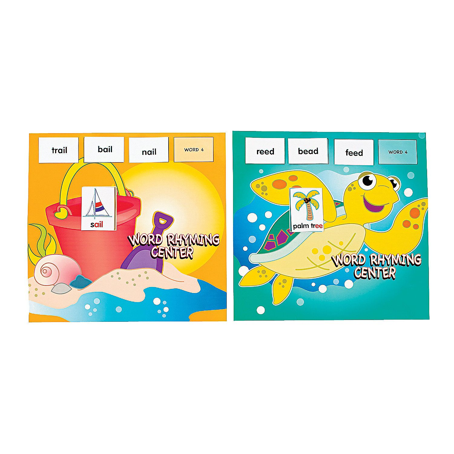 154 Pc Seaside Learning Rhyming Words Game Center