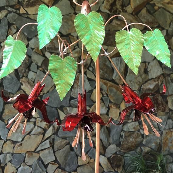 Quiz What Is Your Garden Style: Hummingbird Feeder Copper Fuchsia Flower