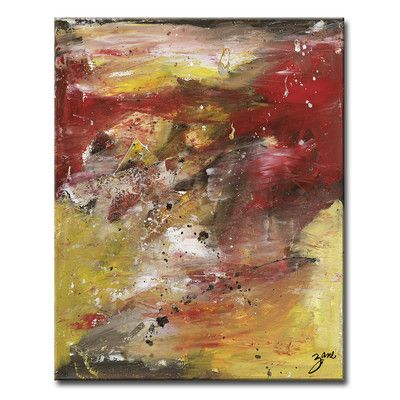 """Ready2hangart Zane 'Energy' Framed Painting Print on Wrapped Canvas Size: 30"""" H x 20"""" W x 1.5"""" D"""